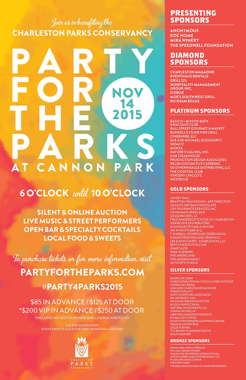 party for the parks charleston
